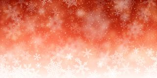 New Years Red Background. Illustration of snowfall, background for christmas and new year greeting cards, and invitations, and winter holiday season. EPS 10 vector illustration