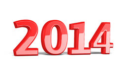 2013 new years. Red  and clipping path Stock Photos