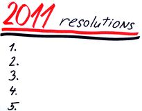 New years resolutins royalty free stock images