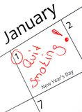 New years resolution Royalty Free Stock Photos