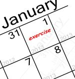 New years resolution. The new years resolution is. . . EXERCISE stock illustration