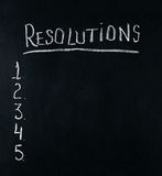New Years resolution concept Stock Photo