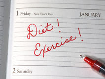 New Years Resolutions Stock Images