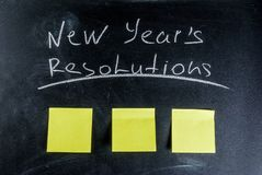 New years resolutions concept Royalty Free Stock Photography