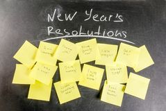 New years resolutions concept royalty free stock images