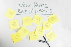 New years resolutions concept Royalty Free Stock Image