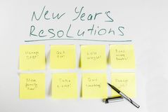 New years resolutions concept Royalty Free Stock Photos