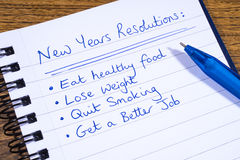 New Years Resolutions Stock Photos