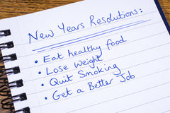 New Years Resolutions Stock Image
