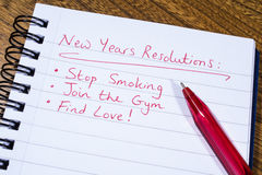 New Years Resolutions Royalty Free Stock Image