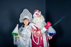 New Years scenes in laboratory 1495. Royalty Free Stock Photos