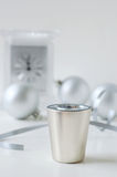 New years shot 2. New years theme. close up of shot glass Royalty Free Stock Photo
