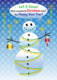 New Years snowman Royalty Free Stock Image