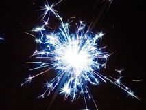 New Years Sparkler Stock Photo