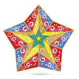 New Years star from geometrical figures Royalty Free Stock Photos
