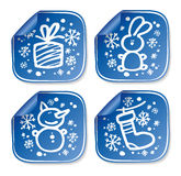 New Years stickers. Royalty Free Stock Photo
