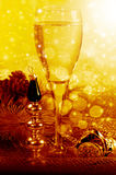 New years style life with champagne Royalty Free Stock Photography