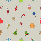 New Years sweets icon Royalty Free Stock Image