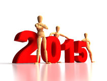 2015 New Years Team Royalty Free Stock Photo
