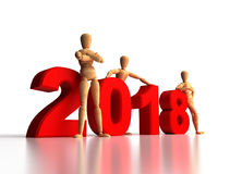 2018 New Years Team Royalty Free Stock Photography