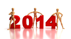 2014 New Years Team Royalty Free Stock Photos