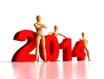 2014 New Years Team Stock Image