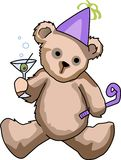 NEW YEARS TEDDY BEAR Royalty Free Stock Photography