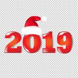 New Years Text. With Gradient Mesh, Vector Illustration royalty free illustration