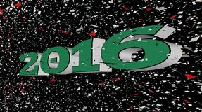 New Years Transition Text stock video footage
