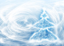 New years tree and blizzard royalty free illustration