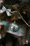 New Years tree decorations Stock Photo
