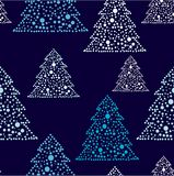 New years tree repetition. Pattern in fashion trend colors vector illustration