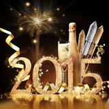 2015 New Yeas Eve celebration Stock Photos