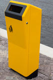 New yellow bin for waste Royalty Free Stock Image