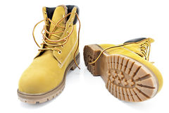 New yellow boots Royalty Free Stock Images