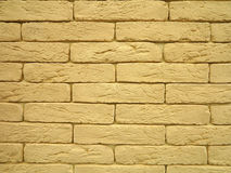 New yellow brick wall texture grunge background Royalty Free Stock Photography