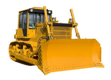 New yellow bulldozer Royalty Free Stock Photos