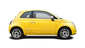 New yellow Fiat 500 Royalty Free Stock Photo