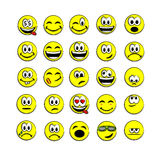 Yellow vector smile face Royalty Free Stock Images
