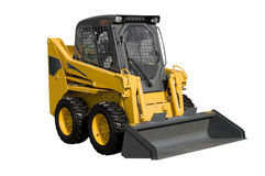 New yellow minitractor. Isolated on pure white stock images