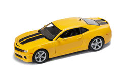 New yellow mode car Royalty Free Stock Photo