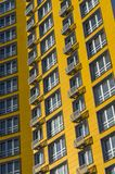 New yellow multi-storey residential building royalty free stock photography