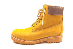 New yellow winter boot isolated Royalty Free Stock Image