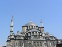 The New (Yeni) Mosque in Istanbul. Turkey with two minarets, built from 1597-1663 stock image