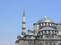 The New (Yeni) Mosque in Istanbul. Turkey with two minarets, built from 1597-1663 stock photography