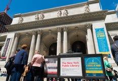 New- Yorköffentliche Bibliothek Lizenzfreies Stockbild