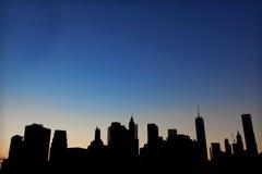 New York à la nuit Images stock