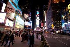 New York. City , Broadway at night Stock Photography