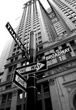 New york. Broadway and thames new york street sign royalty free stock photo