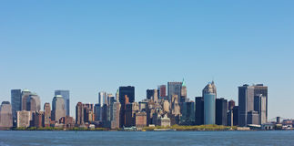 New York. Skyline of New York seen from the Hudson river Stock Photos